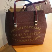 Louis Vuitton Handtasche Bordeaux Gold