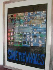 Hundertwasser Originalposter inkl Rahmen mit
