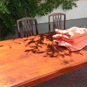 Massiver mahagonifarb Holztisch mit 4