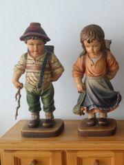Holzfiguren Schulkinder aus Südtirol