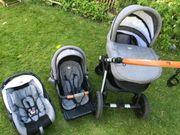Kinderwaagen Set Babywanne Sportsitz Babyschale