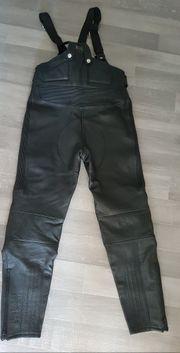 Motorradlatzhose aus echtem Leder
