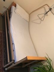 Krankenbett elektrisch verstellbar mit Bettgalgen
