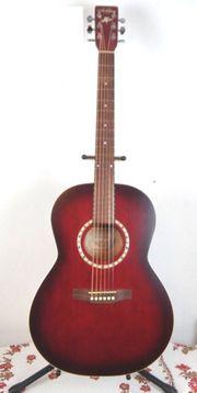 Folk-Gitarre Art Lutherie Folk Burgundy