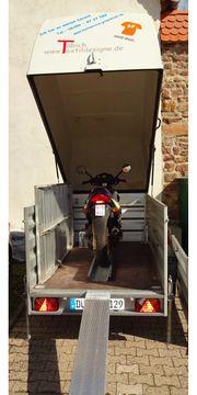 Motorradanhänger Haubenanhänger Westfalia für Motorräder