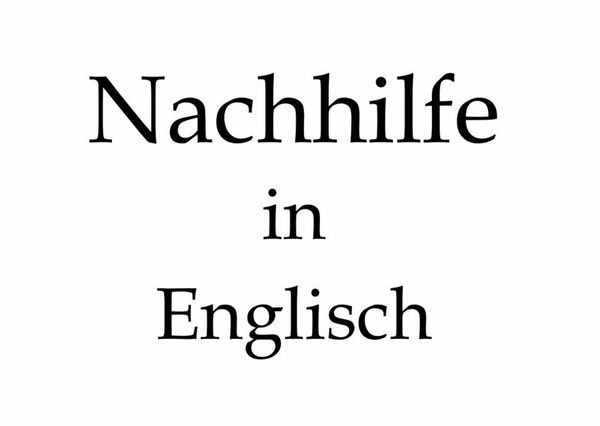 Englisch-Nachhilfe von ausgebildeter Übersetzerin Dolmetscherin