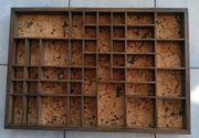 Alter Setzkasten aus Holz und
