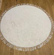 Handgetufteter Baumwollteppich 150 durchmesser