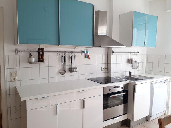 Hochwertige Küche IKEA Hochglanz weiß türkis in Heidelberg ...