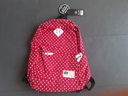 Kinderrucksack rot mit weißen Punkten