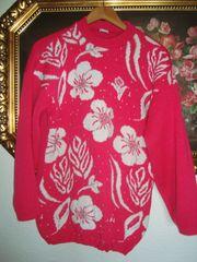 Vintage Pullover im Blütenprint- Gr