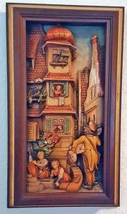 Postbote Wandrelief Carl Spitzweg Holz