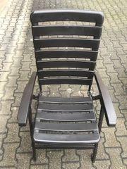 4 klappbare Gartenstühle aus Kunststoff