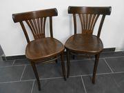 2er Stuhlset 2 Stühle braun -
