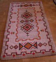 Teppich selbst geknüpft beige