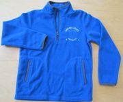Fleece Pulli Größe 128 blau