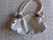 Vintage - Tasche Handtasche Kunstleder ecru