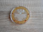 Fußball Medaille 4 facher Deutscher