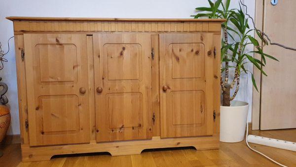 Wohnwand mit Sideboard Holz