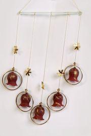 Weihnachtsglocken Glas Weihn Mobile-Windspiel Glockenspiel
