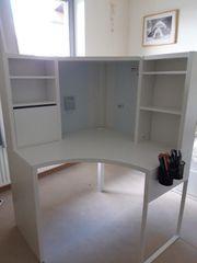 Schreibtisch IKEA Micke weiss Eckschreibtisch