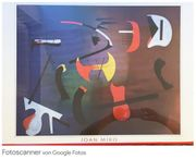 Abstraktes Bild Kunstdruck von Joan