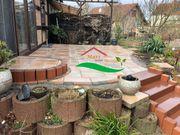 Terrasse Terrassenbau Palisaden Hauseingänge Gehwege