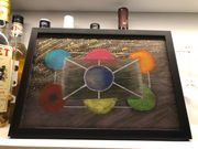 Abstraktes Gemälde handgemalt