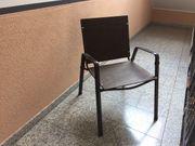 4 Gartenstühle aus Metall zu