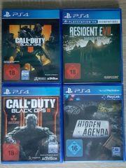 PS4 Spiele Paket 4 Spiele