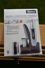 Verkaufe TEVION Nasen- und Ohrhaartrimmer