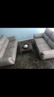 2Teilige Couch Echt Leder