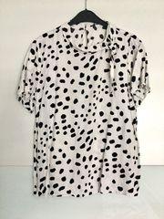 Bluse T-Shirt Bindegürtel Punkte gepunktet