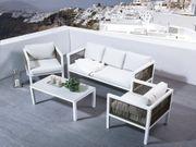 Lounge Set Rattan Aluminium 5-Sitzer