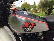 XT 500 Silbertank in Traumzustand