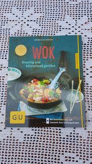 Neuwertiges modernes Kochbuch Wok - knackig