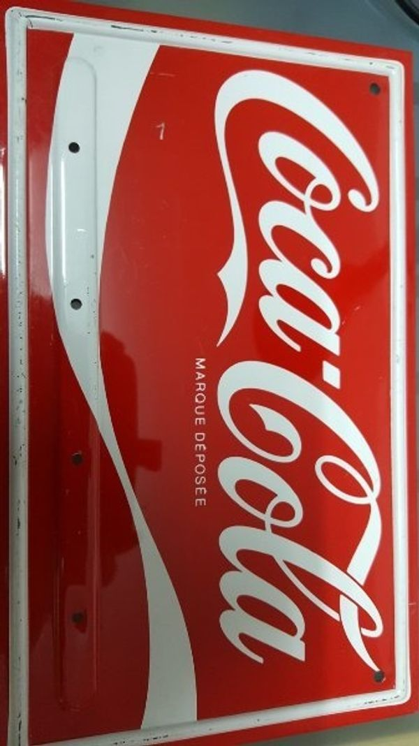 Coca Cola Metall Schild
