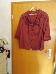 Bordeaux-rote Bluse von Ulla Popken