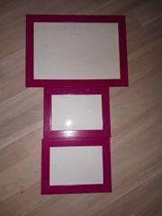 3 Bilderrahmen pink