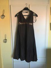 festliches Kleid braun rückenfrei Zero