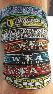 Wacken Festival WOA Bändchen Wristband