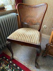 6 Stühle Chippendale Wiener Korbgeflecht-Vintage