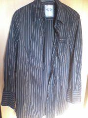 Bluse - Damen - langarm - schwarz - Nadelstreifen - Esprit