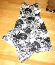 NEU extravagantes Kleid weiß-schwarz Gr