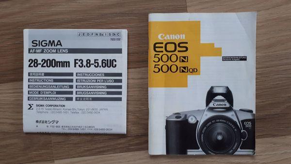 Spiegelreflexkamera Cannon EOS 500N