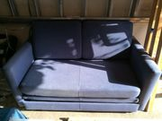 blaues Sofa ausziehbar