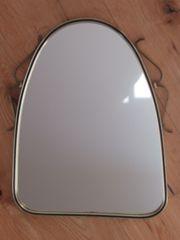 Spiegel Antik Gold Messing ovaler