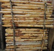 Zaunpfosten - Zäune Pfähle aus Kastanienholz