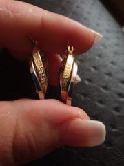 585 Versace Goldohrringe Gelbgold und