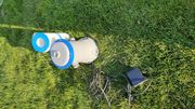 Kartuschenfilteranlage für Gartenpool mit zwei